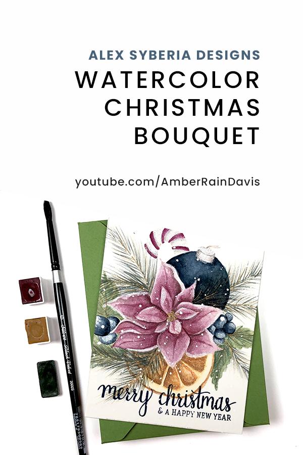 PINTEREST | Watercolor Christmas Bouquet