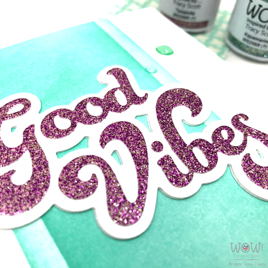 Tips to glitter emboss panels for die-cuts