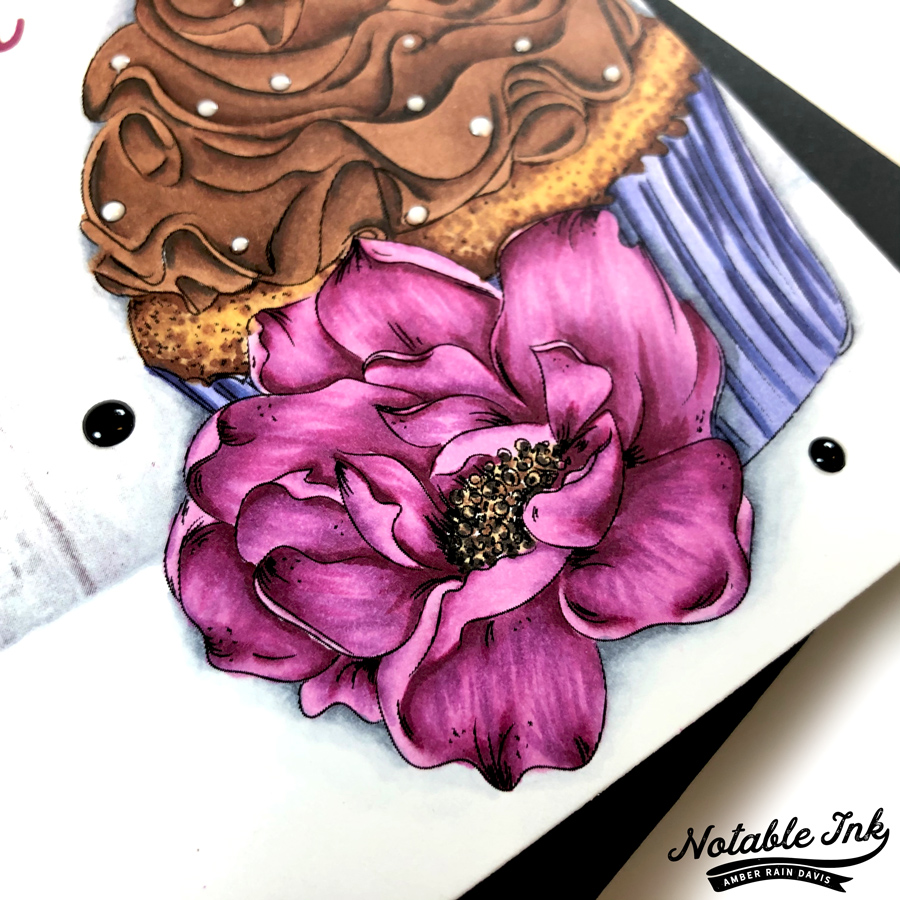 Close up Candy Cupcake Digital Stamp
