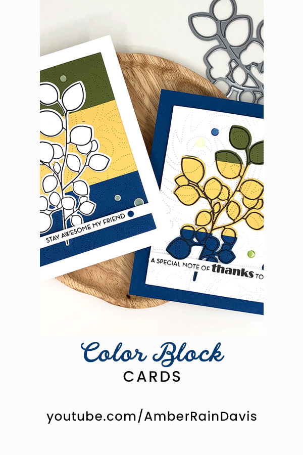 PINTEREST | Cardstock Color Block Cards