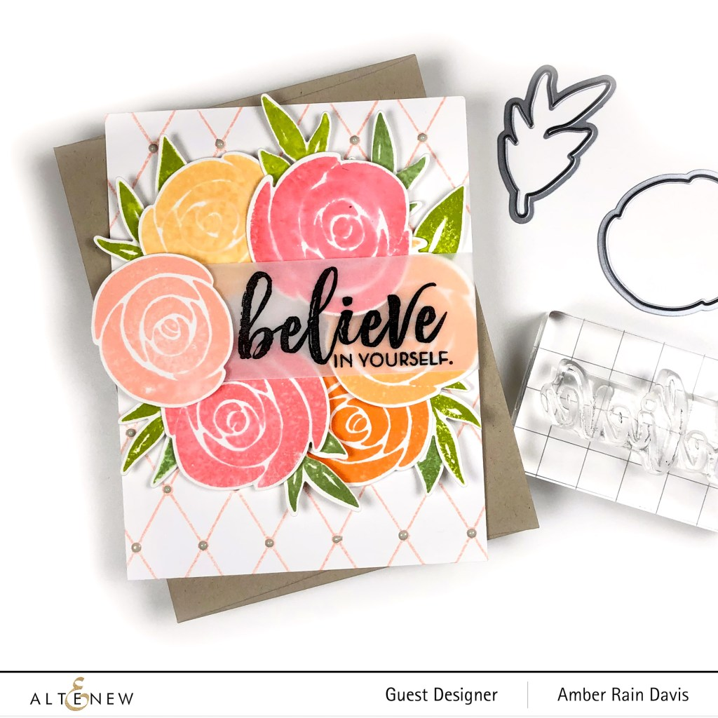 Altenew Watercolor Roses Stamp & Die Bundle
