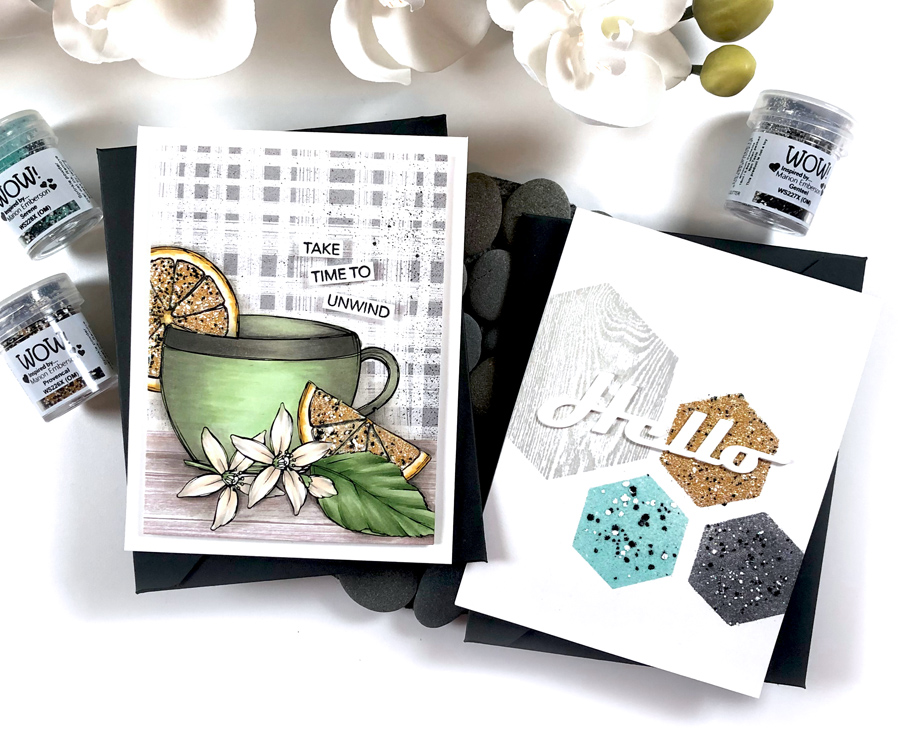 Heat Emboss with WOW! Chunky Embossing Powders | WOW! Trio Riviera