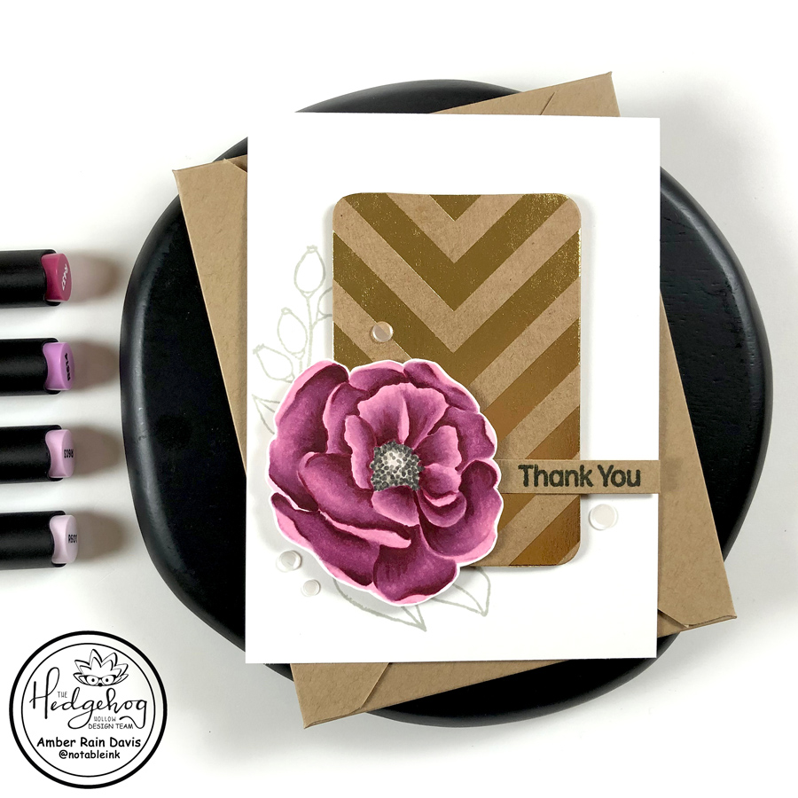 No Masking Floral Card | The Hedgehog Hollow