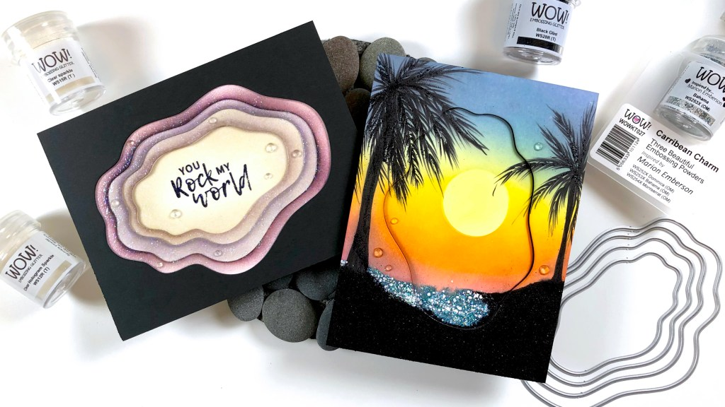 WOW! & Whimsy Stamps Collab Nesting Dies + Embossing Cards