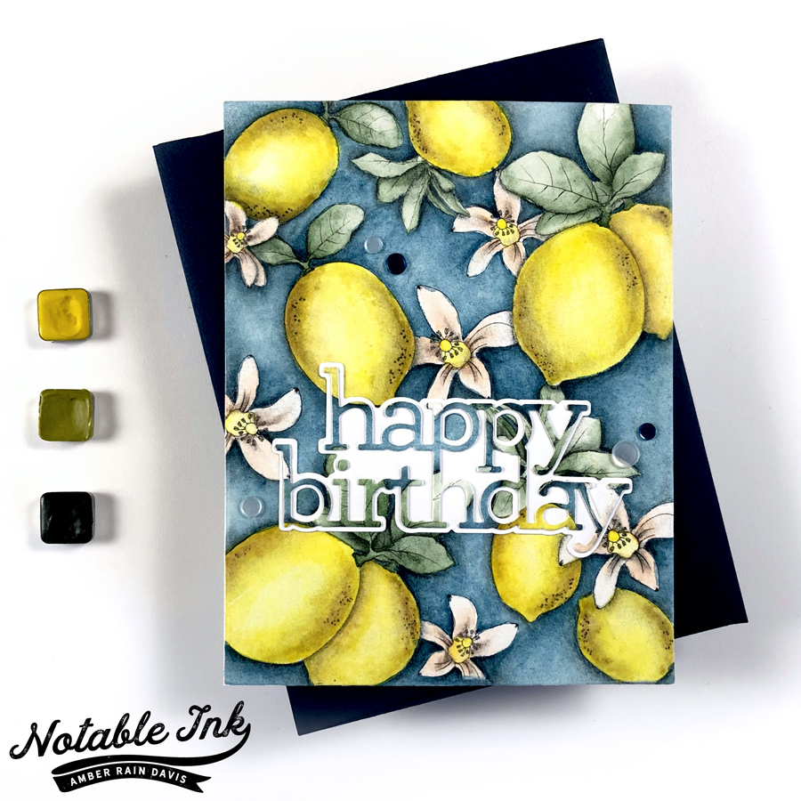 Secret Watercolor Hack | Alex Syberia Lemon Blossoms