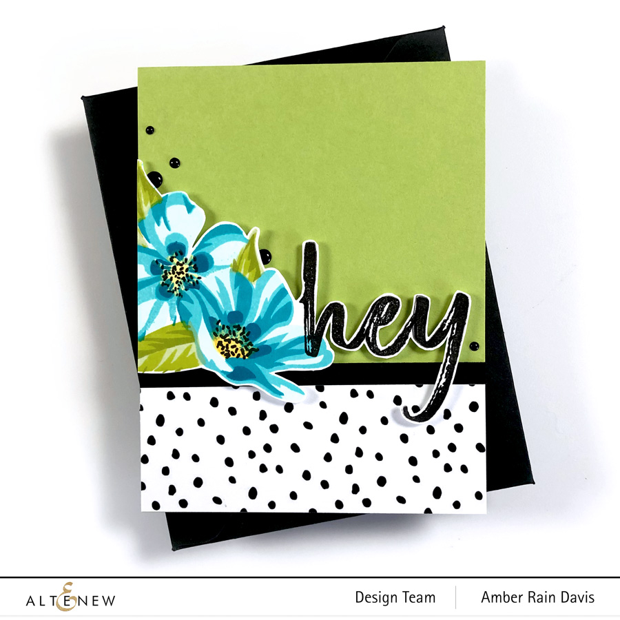 Altenew Flowering Cistus Stamp Set & Mega Brush Alpha Stamp Set
