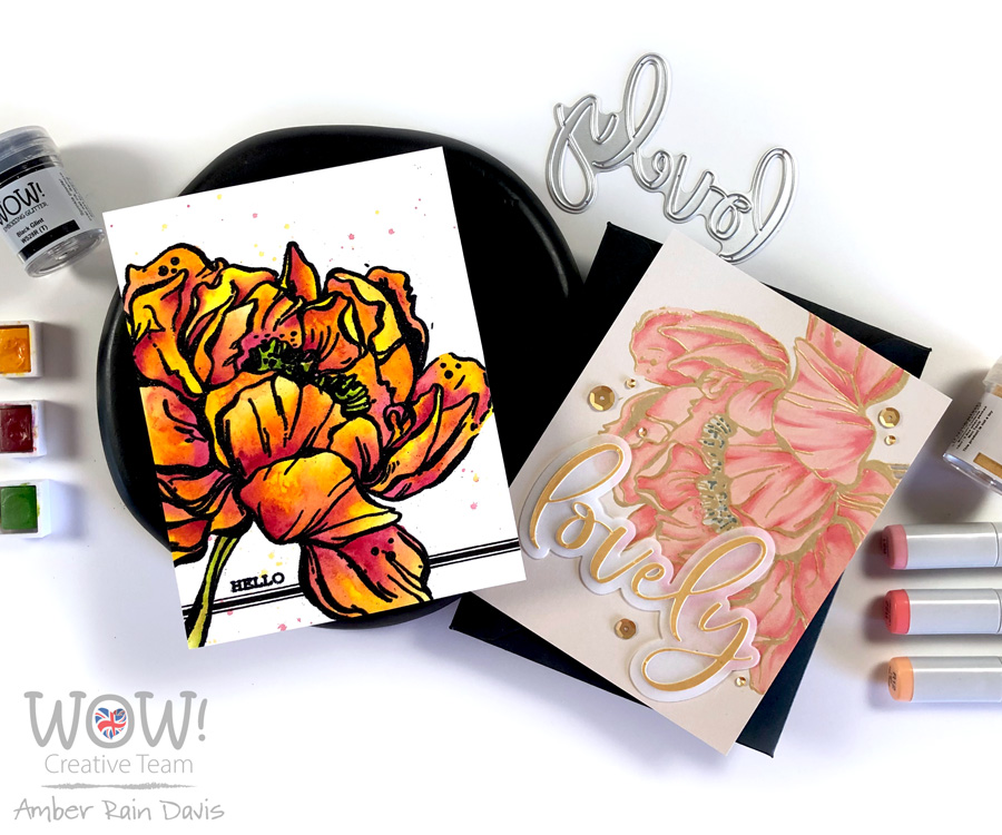 Color Botan Peony 2 Ways | WOW! + Picket Fence Studios Collab Hop