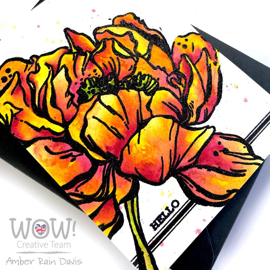 WOW! & Watercolor Botan Peony