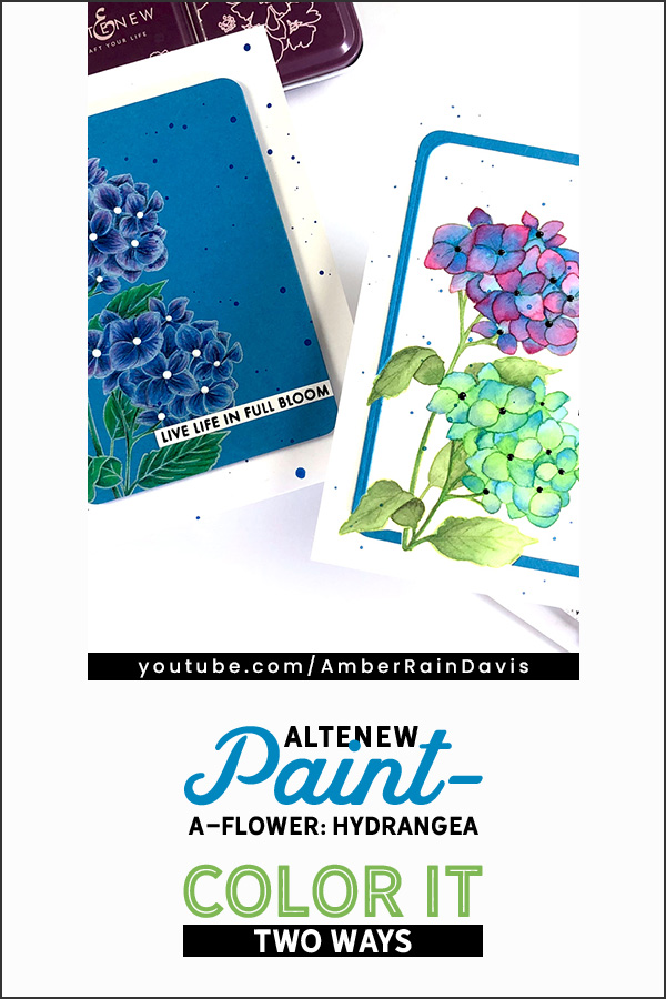 PINTEREST | Paint-a-Flower: Hydrangea Color It Two Ways