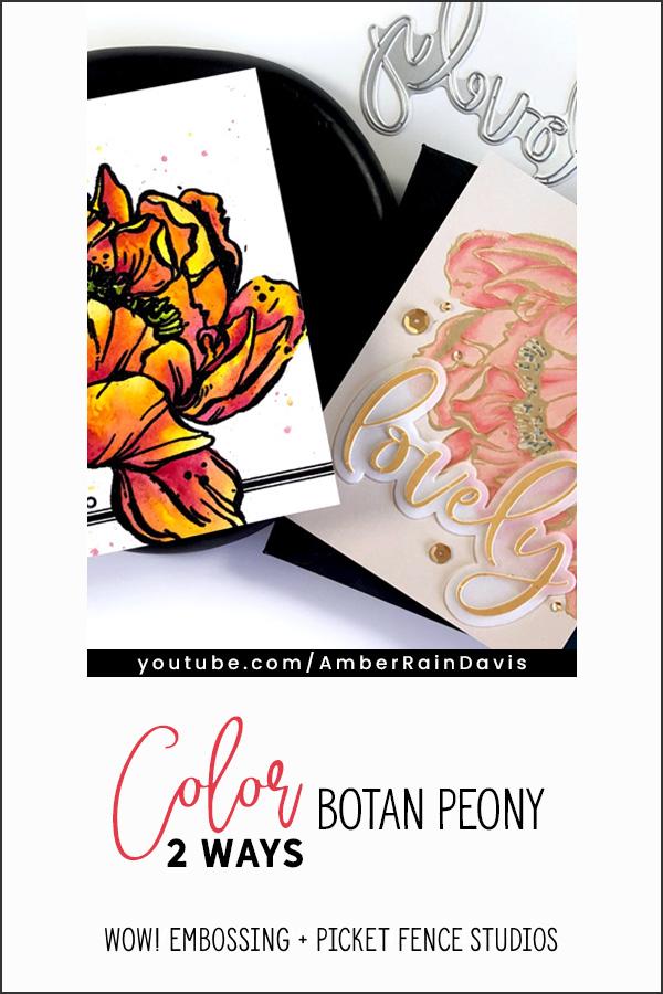 PINTEREST | Color Botan Peony 2 ways