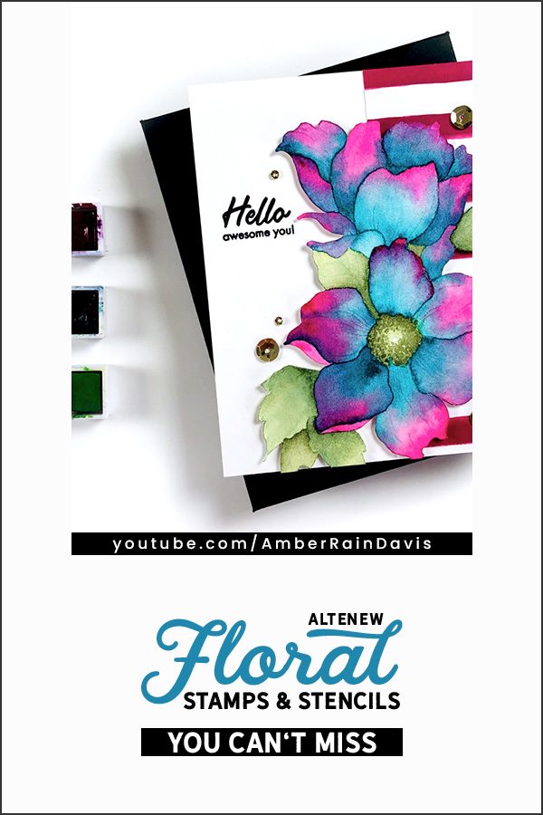 PINTEREST | Altenew Floral Stamps & Stencils You Can't Miss