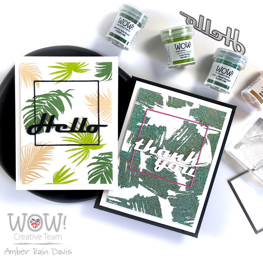 Nature Neutrals Embossed Backgrounds | WOW! Embossing Powder