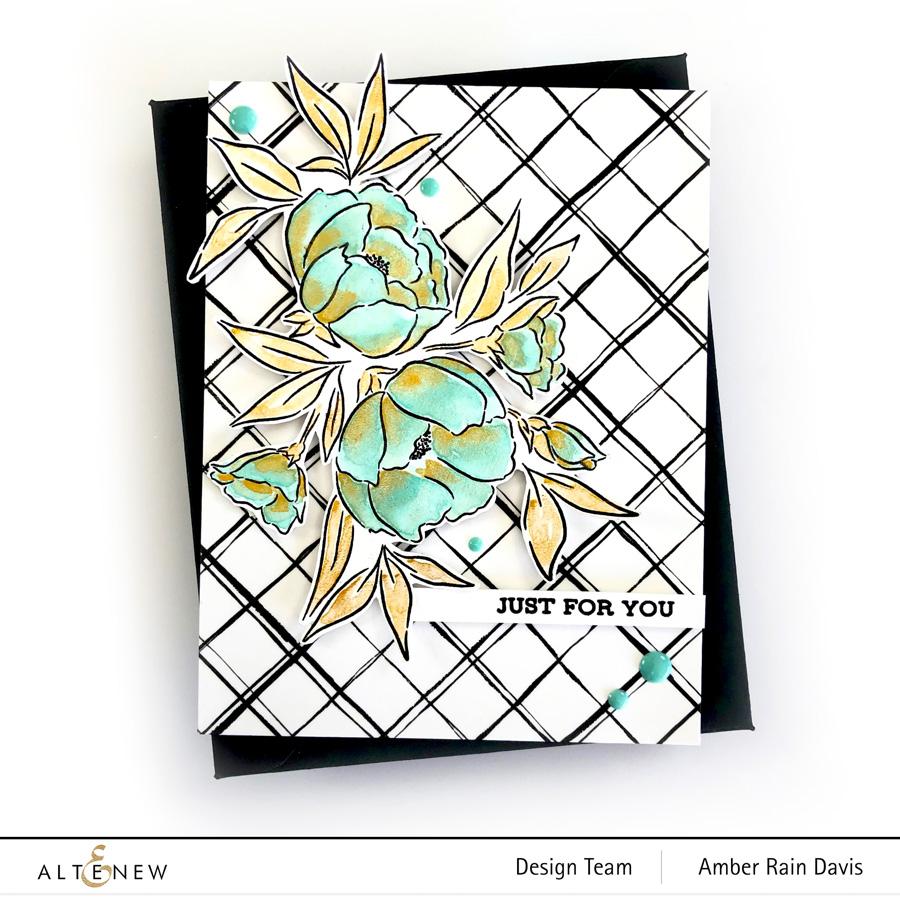 Brush Grid Washi Tape & Precious Bouquet Stamp Set
