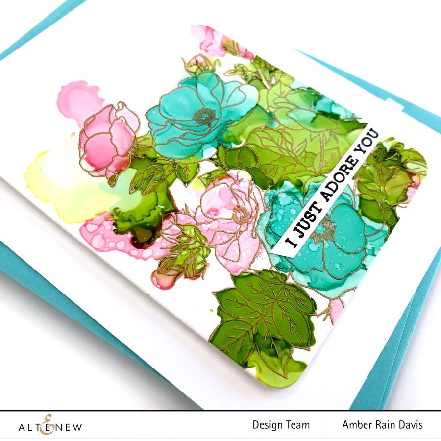 Alcohol Ink Paint-A-Flower: Anemone