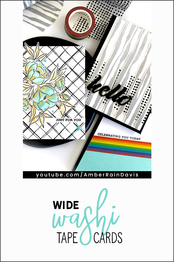 PINTEREST | Wide Washi Tape Cards