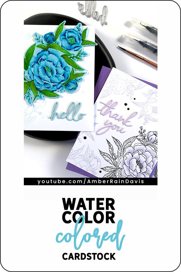 PINTERST | Watercolor Colored Cardstock