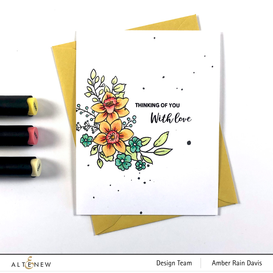 Copic color Paint-A-Flower: Daffodil
