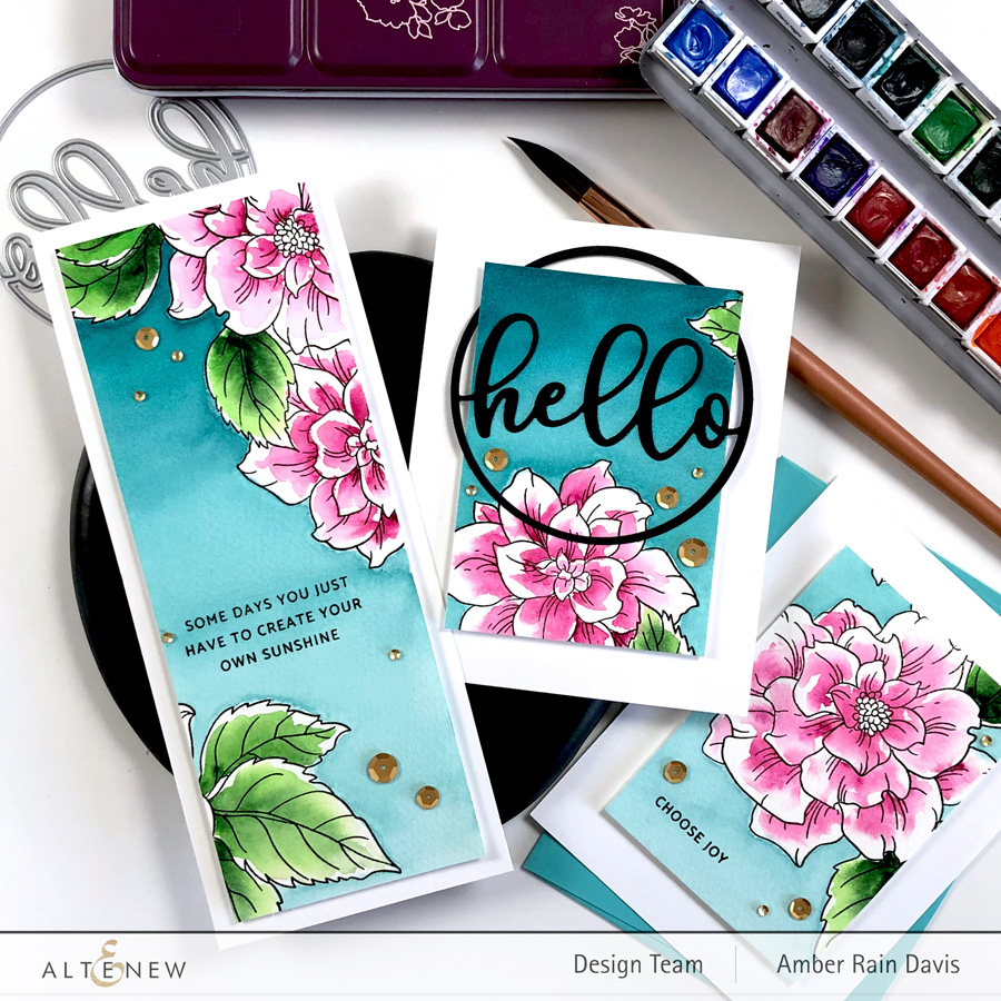 Courageous You Stamp Set | 1 Panel 3 Watercolor Cards