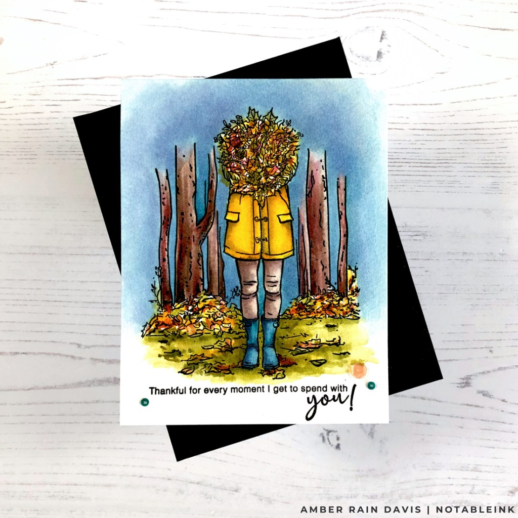 Autumn Season Lovely Legs Watercolor Card