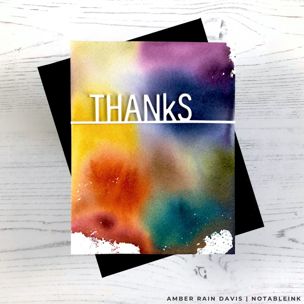 Vivid Fall/Autumn Color Combination Thank You Card