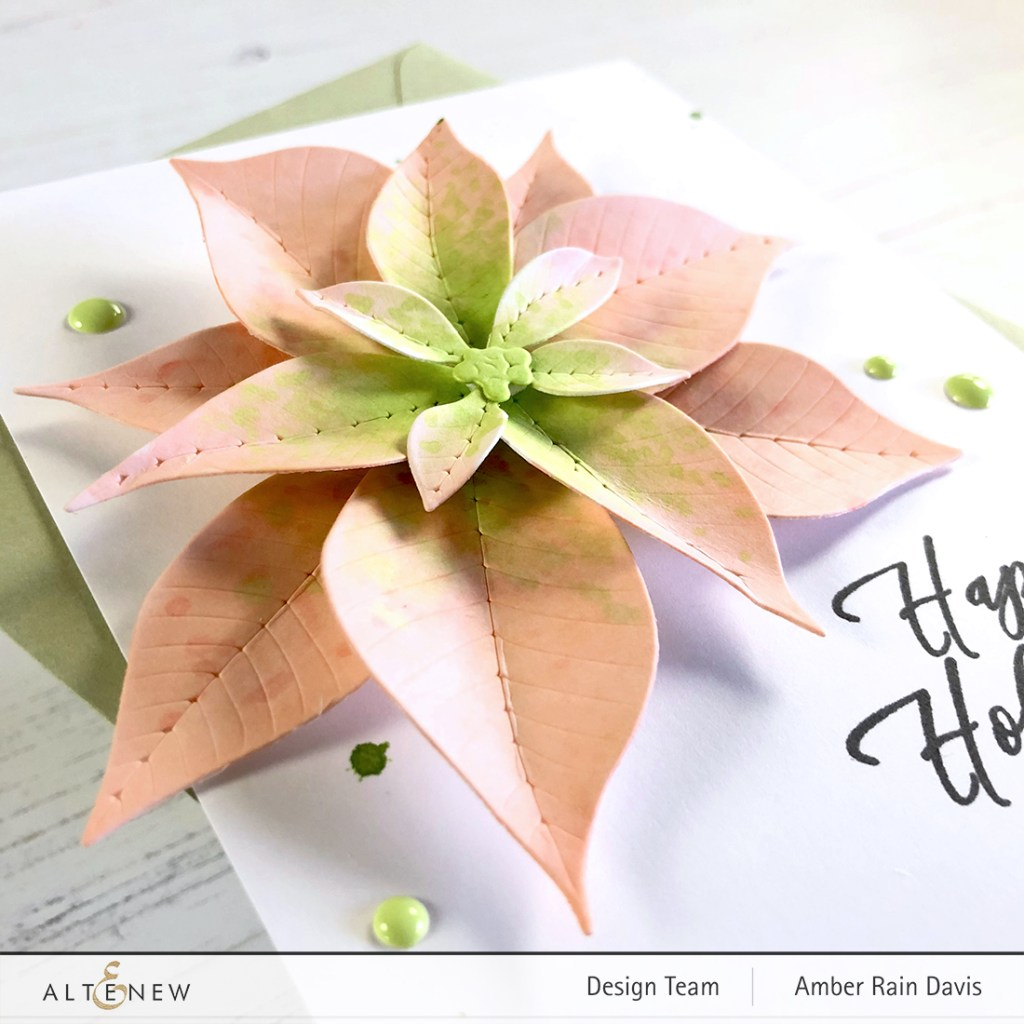 Altenew Poinsettia 3D Die Set | Amazing Pastel Chic
