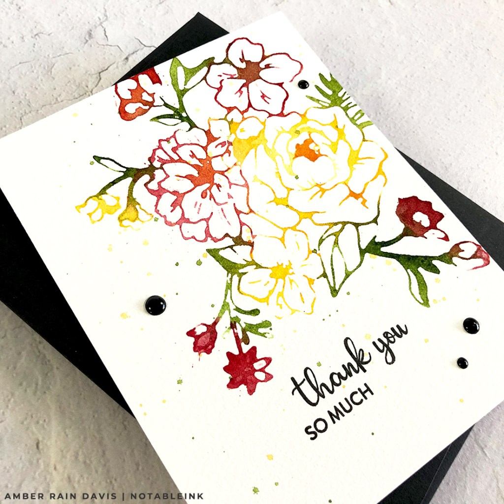 Easy Watercolor Stamping Two Ways