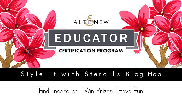 Altenew Educator Style It With Stencils Blog Hop