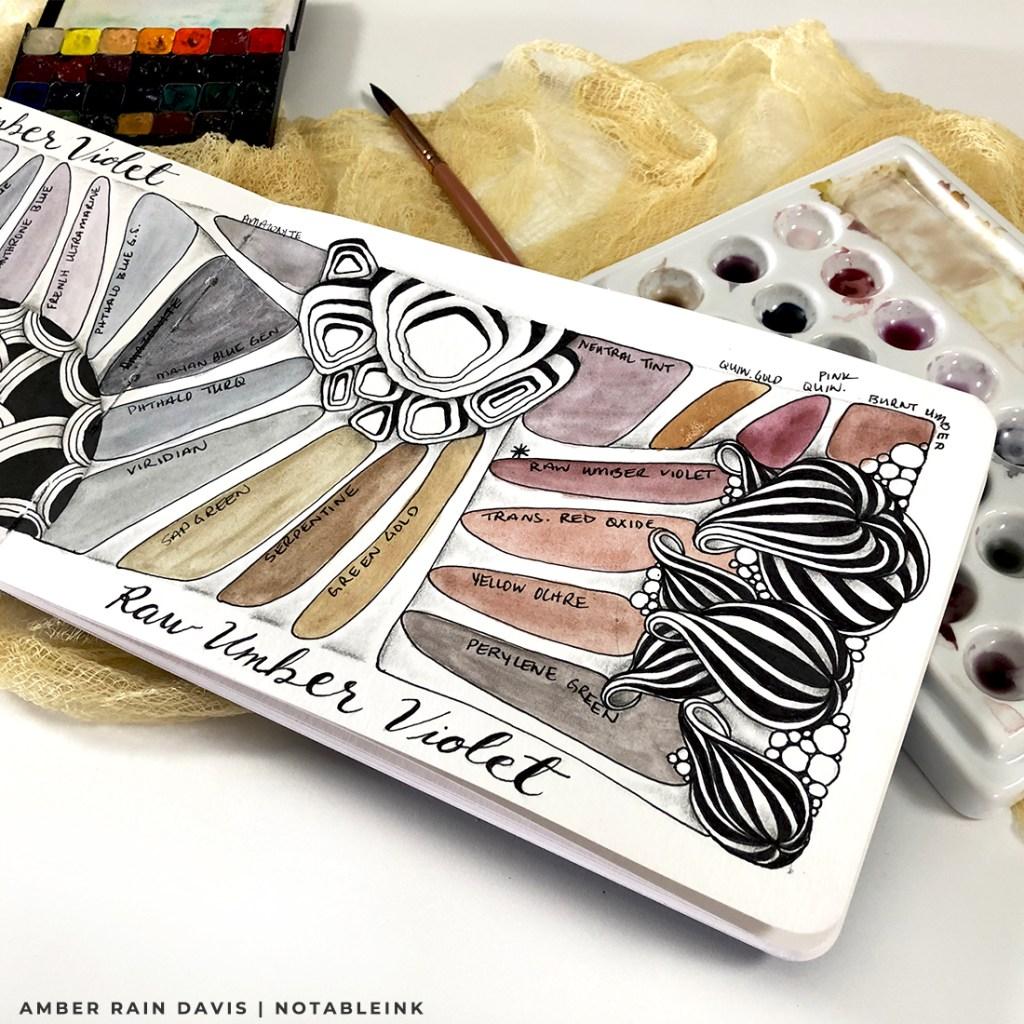 Zentangle Watercolor Swatches