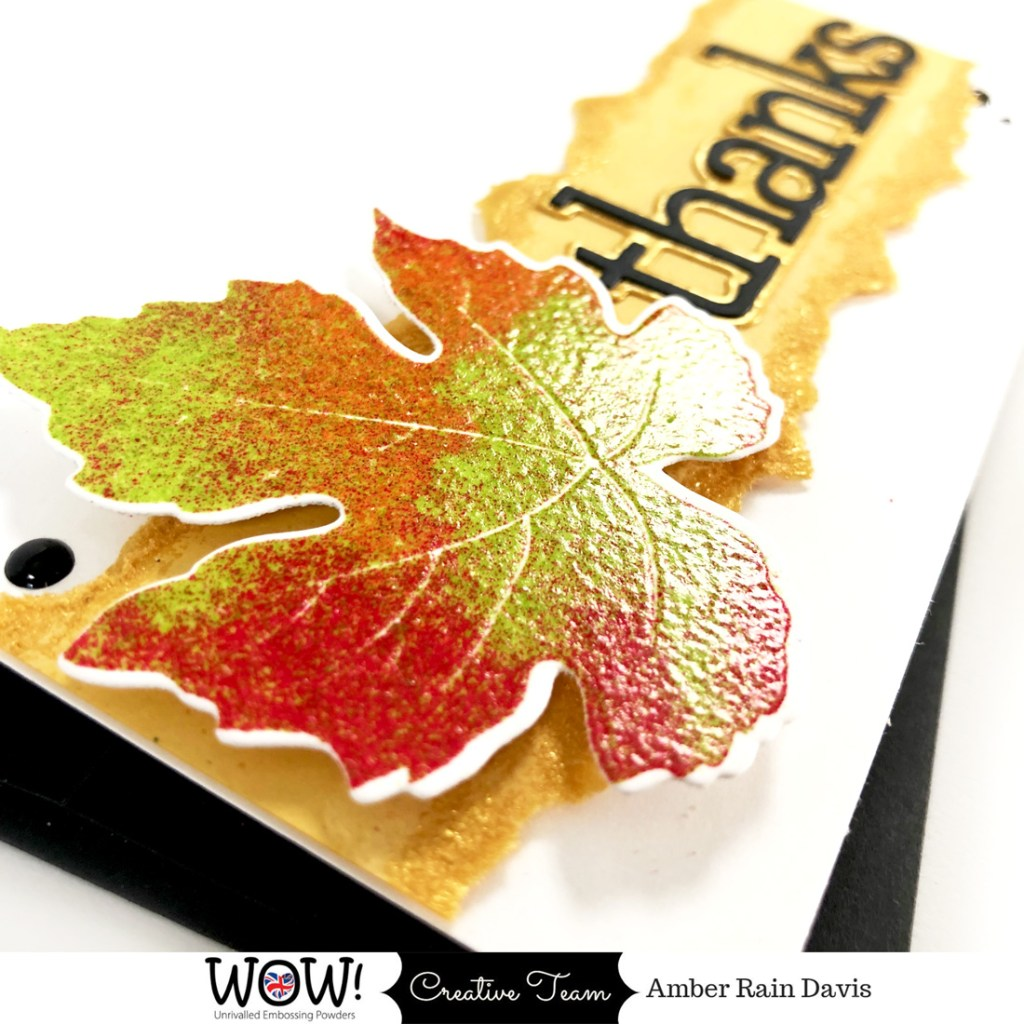 Mixing Embossing Powders For Vibrant Thanksgiving Cards