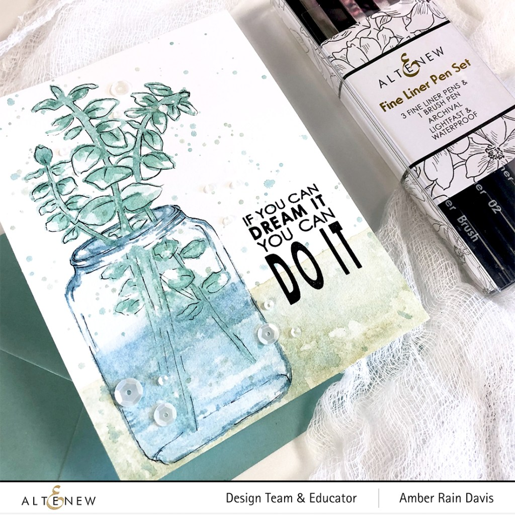 Easy Ink and Wash Hack For Stampers