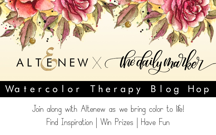Altenew + The Daily Marker Watercolor Therapy Blog Hop