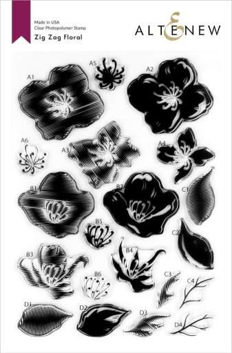 Altenew Zig Zag Floral Stamp Set