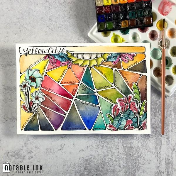 Zen Watercolor Swatch Stamp - Daniel Smith Swatch Book Series