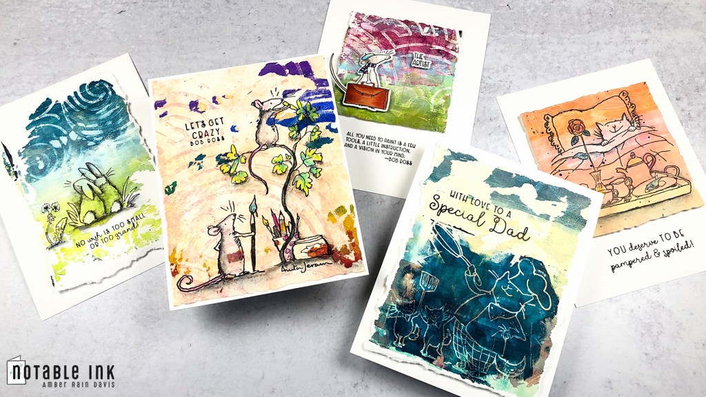 How to Make Gel Press Prints for Cards