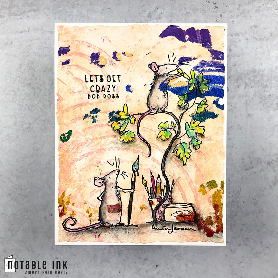 Colorado Craft Company Love Art Stamp Set