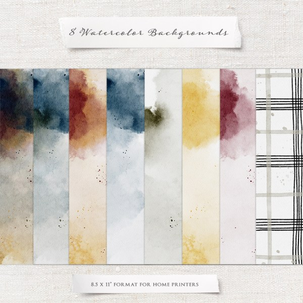 warm Wishes Watercolor Backgrounds