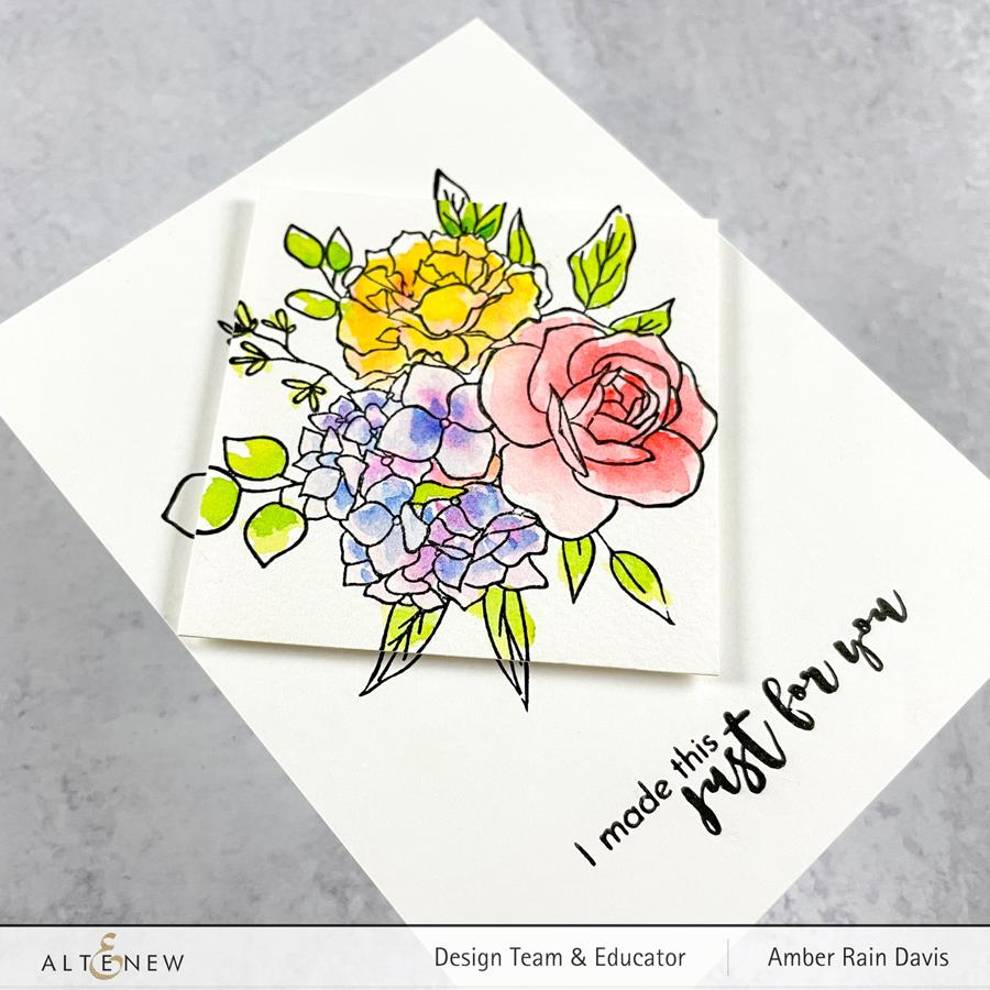 Altenew Inky Bouquet Stamp Set