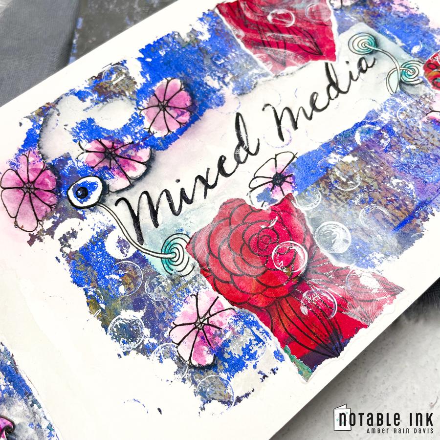 Mixed Media | Gel Press, Zentangle, Watercolor
