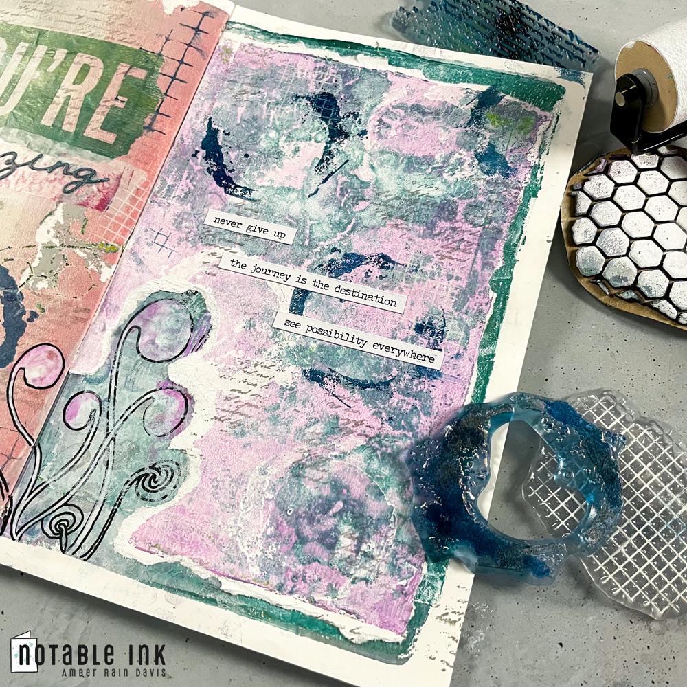 Tonic Studios Patterns & Prints Art Journaling