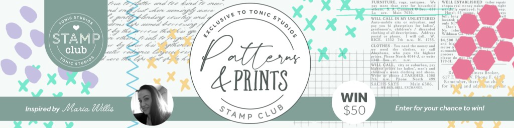 Tonic Studios Patterns & Prints Stamp & Die Bundle