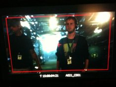 Me acting as a stand-in while PAing on the TNT original series Leverage