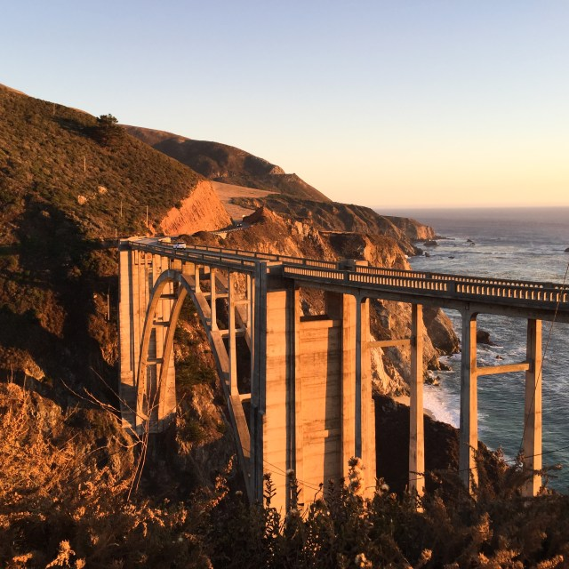 Bixby Creek Bridge at Big Sur on the Pacific Coast Highway