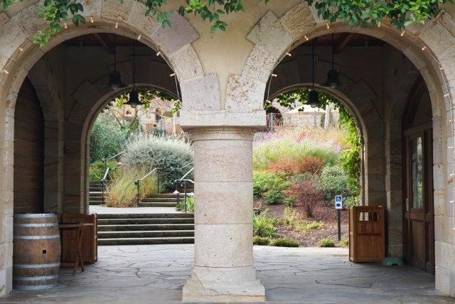 Entrance to Beringer Vineyards Napa Valley California