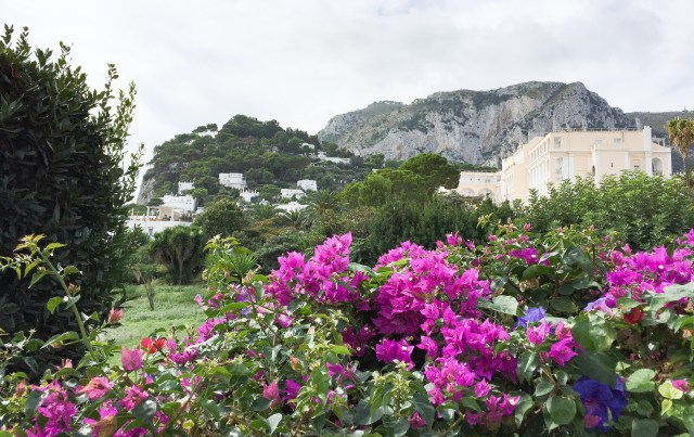 View from the walkway to the Punta Tragara viewpoint in Capri