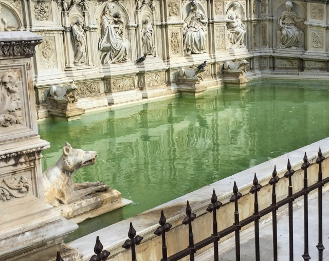 Fonte Gaia (Fountain of the World) at the Piazza del Campo in Siena, Italy