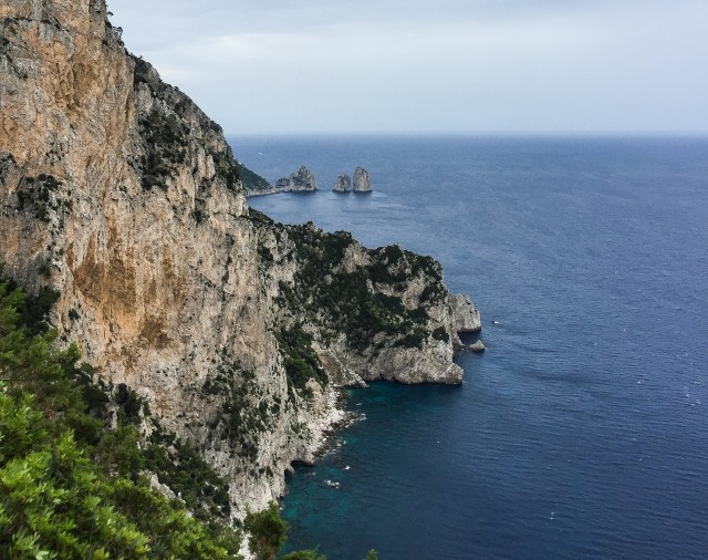 View of the Faraglioni rocks from Anacapri