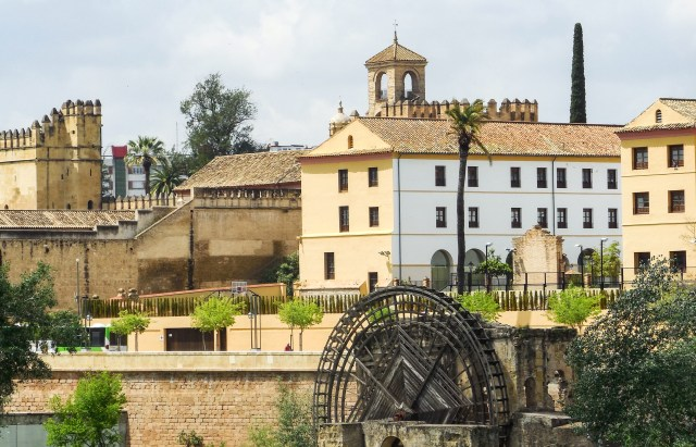 The Water Wheel on the northern bank of the Guadalquivir River in Cordoba, Spain
