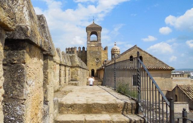 Walking the ramparts of the Alcazar in Cordoba Spain