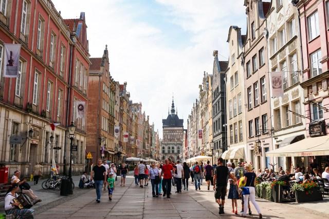 Ulica Dluga Gdansk Old Town Poland