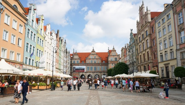 Dlugi Targ and Green Gate Old Town Gdansk Poland